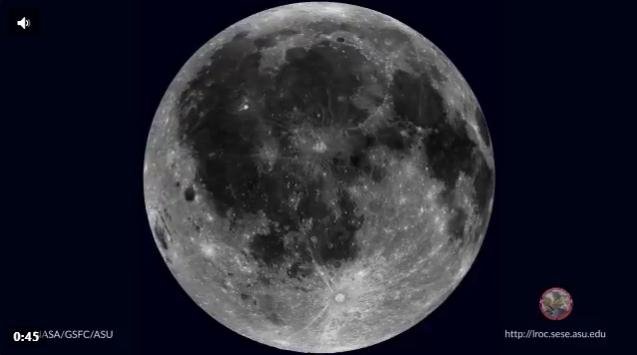 La rotazione completa della Luna in un video incredibile della NASA