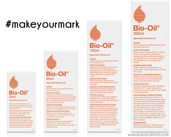 Yakin dengan Diri Anda, #makeyourmark dengan Bio-Oil