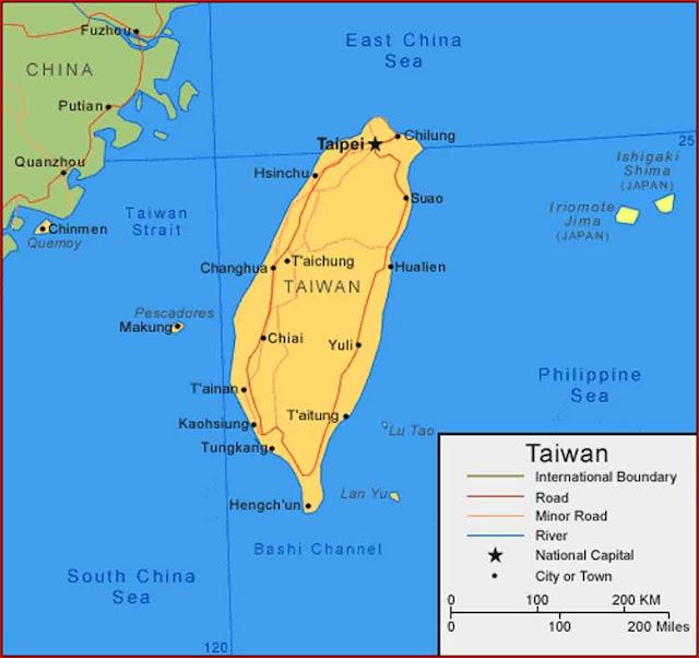 Gambar Peta Taiwan
