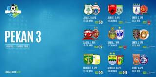 Jadwal Liga 1 Pekan Ketiga 6-9 April 2018