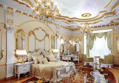 Потолки для спальни в стиле Барокко - Ручная лепка Волгоград