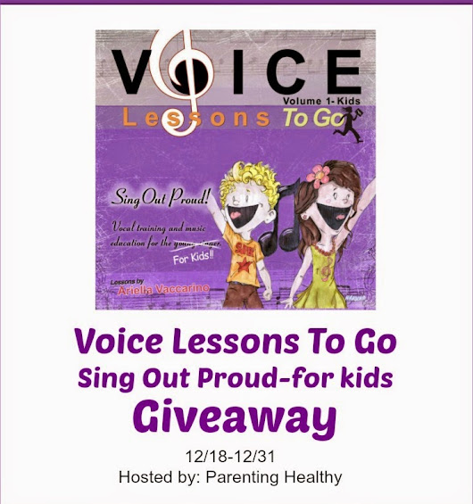 Voice Lessons To Go-Sing Out Loud for the child who loves to sing #Giveaway