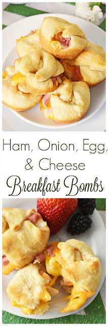 HAM, ONION, EGG, & CHEESE BREAKFAST BOMBS