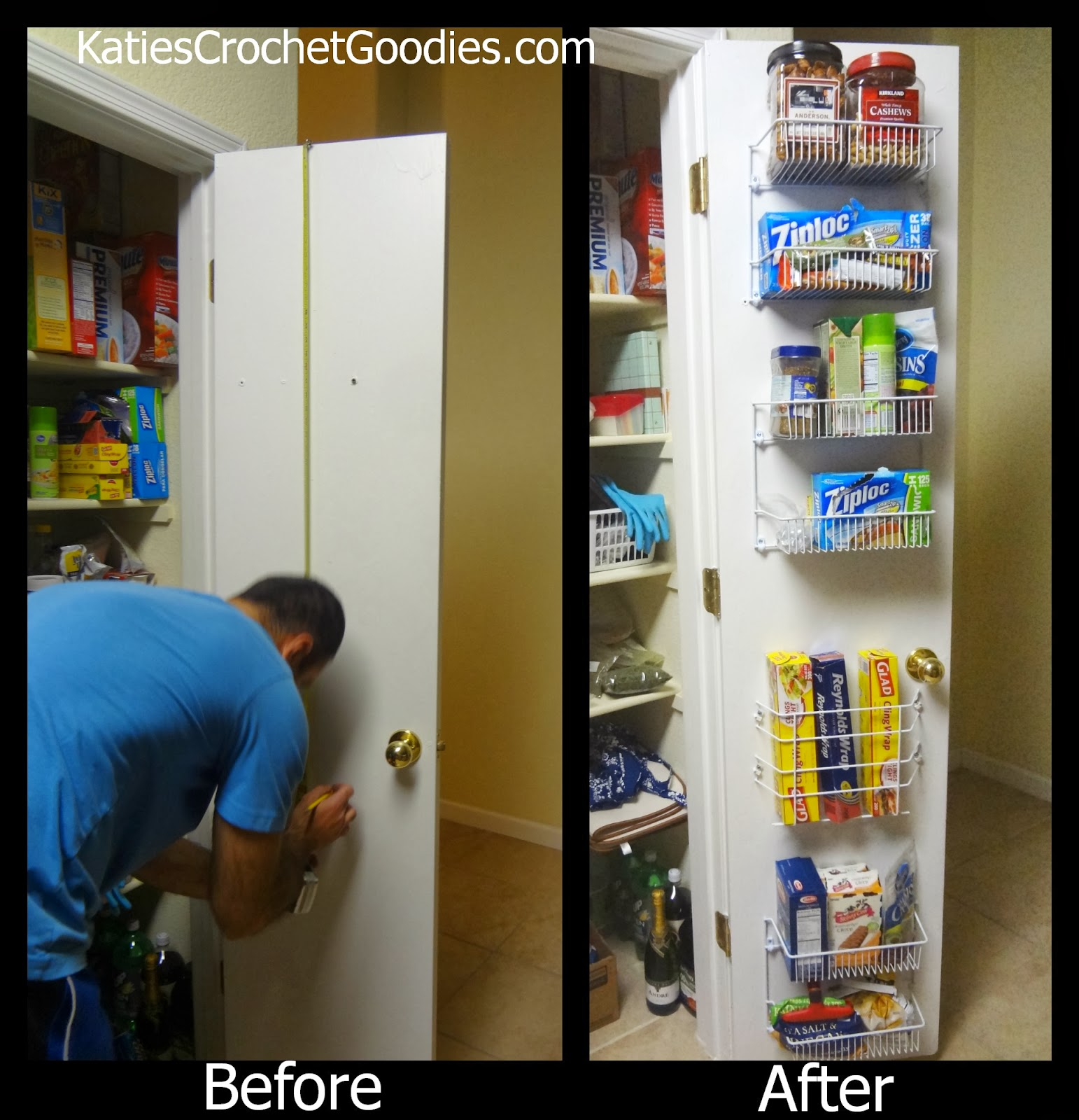 add storage to pantry door