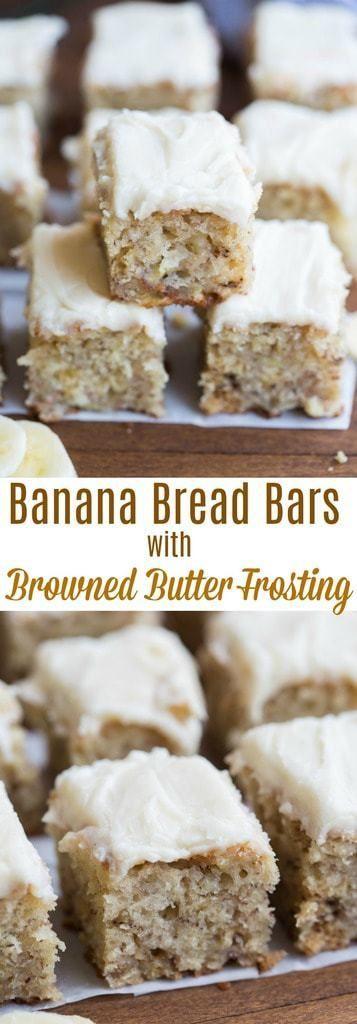 The Best Banana Bread Bars