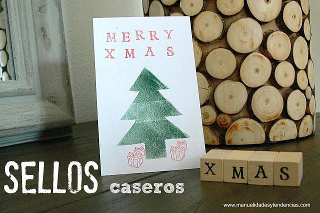 7 ideas de packaging navideño: sellos caseros | http://bizcochosysancochos.blogspot.com/