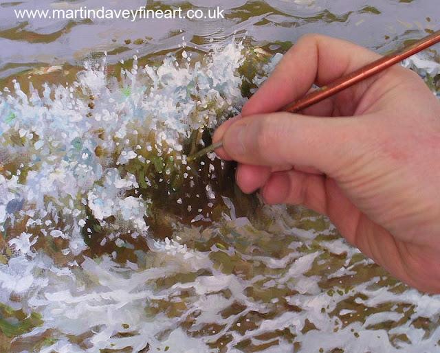 M P Davey sea waves WIP art