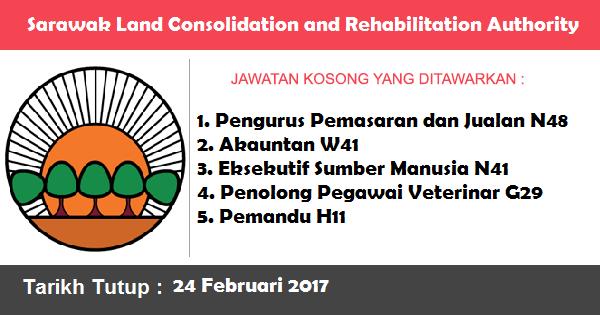 Jawatan Kosong di Sarawak Land Consolidation and Rehabilitation Authority (SALCRA)