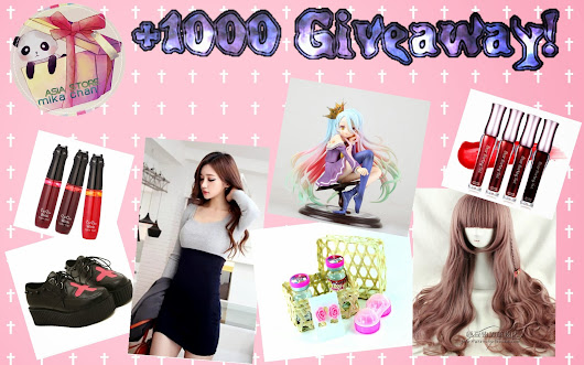 1000 Followers Giveaway! We Love Asian Stuff~