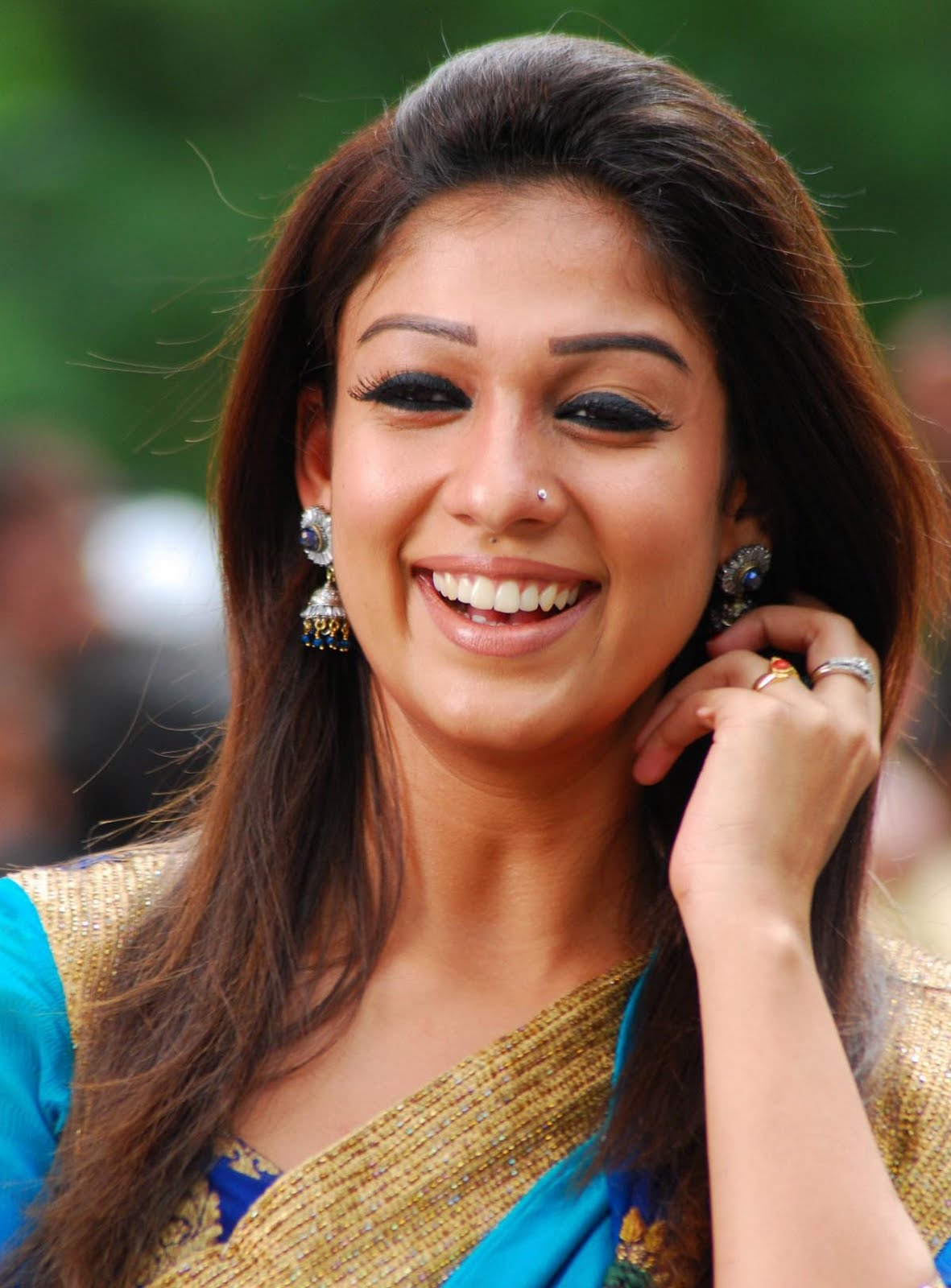 Indian Masala Photos Nayanthara In Saree-8134