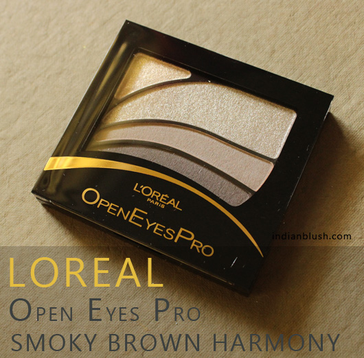L'Oreal Paris Open Eyes Pro Eyeshadow in 08 Smoky Brown Harmony Review and Swatches