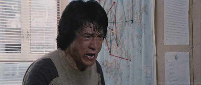 Jackie Chan is so mad, he is sweating