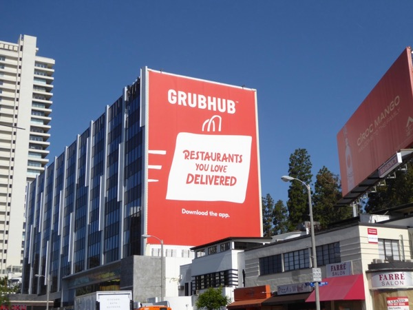 GrubHub Restaurants you love delivered billboard