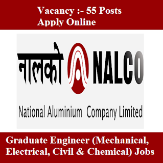 National Aluminium Company Limited, NALCO, Odisha, Graduate Engineer, Graduation, freejobalert, Sarkari Naukri, Latest Jobs, nalco logo