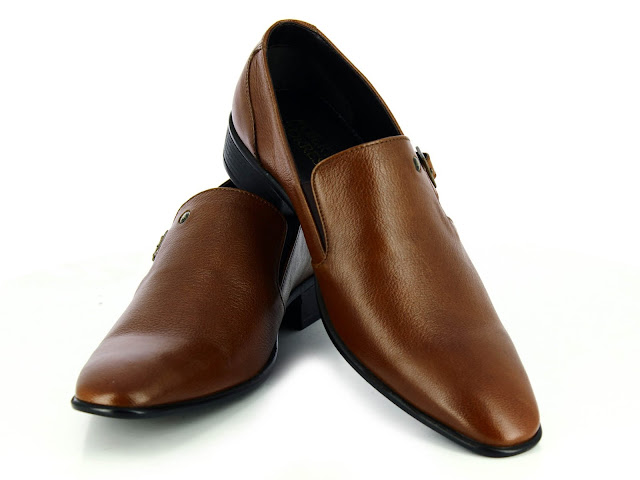 Alberto Torresi Manno Tan Leather Formal Shoes