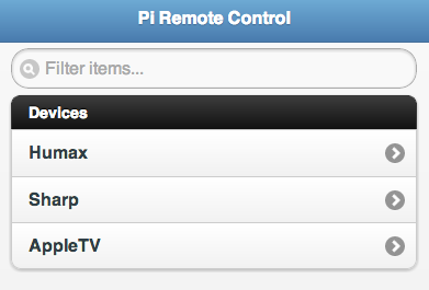 Web-based IR Remote on the Raspberry Pi