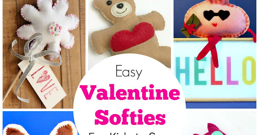 Easy Valentine Softies for Kids to Sew