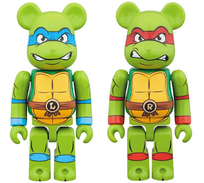 Teenage Mutant Ninja Turtles Leonardo & Raphael 100% Be@rbrick Vinyl Figures by Medicom