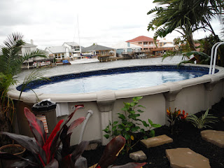 Semi Above Ground Pool - View 2 landscaping