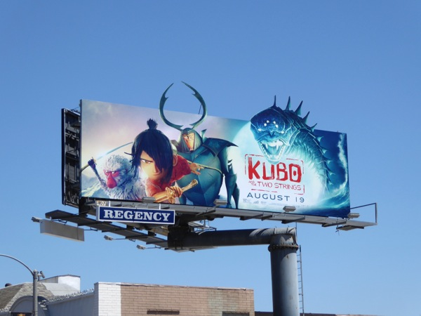 Kubo Two Strings movie billboard