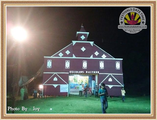 Mathions, Dhanbad Durga Pandal Design Photo in Jharkhand