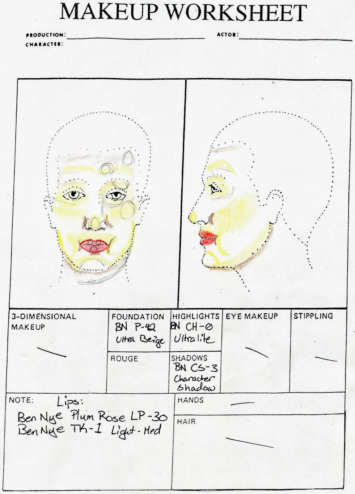 Stage Makeup Morgue Extreme Stoutness
