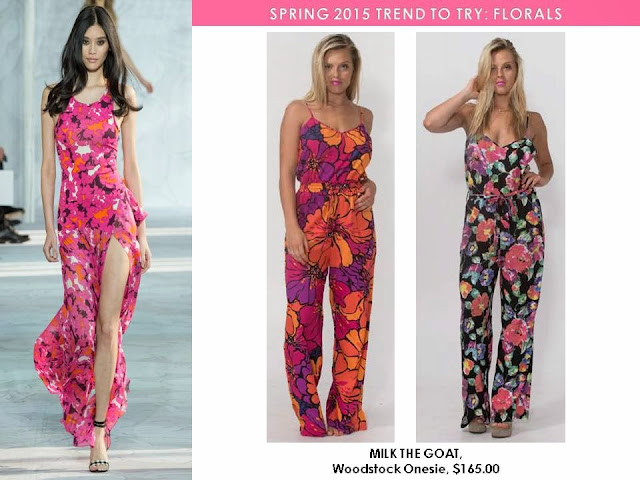 Bold Florals for Spring 2015