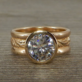 moissanite wide band ring