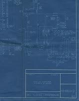 A blue circuit diagram.