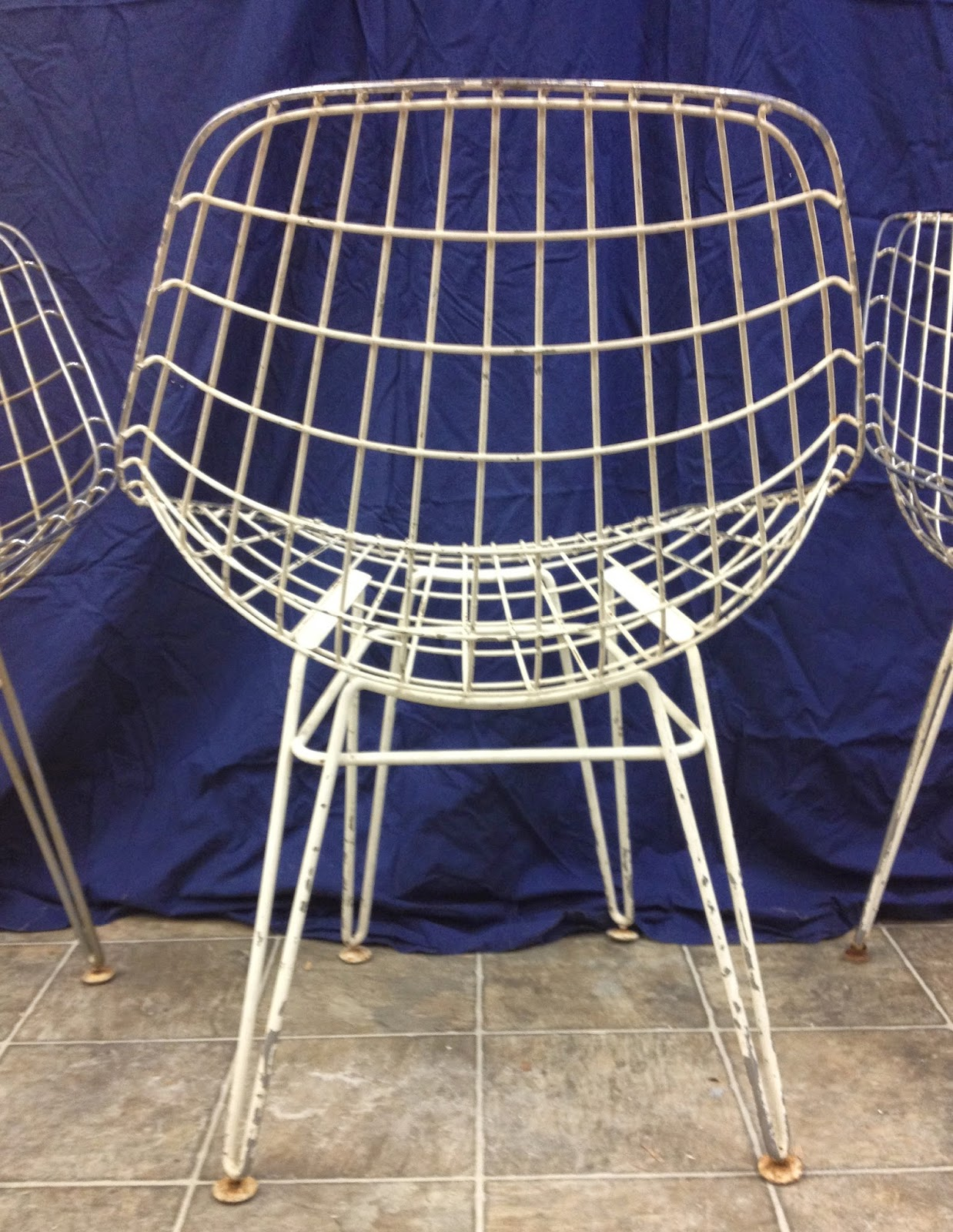 white wire chair men s valet furniture time capsule these are now sold four 1950s chairs