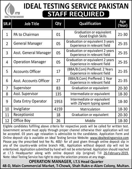 6434+Vacancies Ideal Testing Service Pakistan Jobs 2019 pakistan,daily jobs in pakistan,nts (national testing service) past paper,latest jobs 2019,nts (national testing service),paes jobs 2019,jobs in pakistan,pakistan air force test,jobs in pakistan air force,pakistan jobs preparations,pakistan general knowledge,pakistan studies mcqs old nts test,top selling bikes in pakistan 2017,best 70cc bike in pakistan 2017,best china bike in pakistan