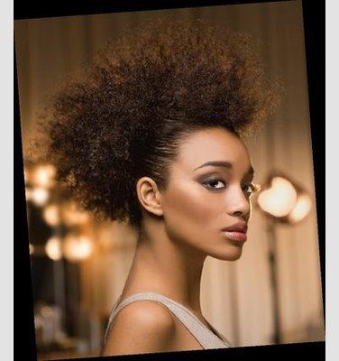 peinado de pelo afro