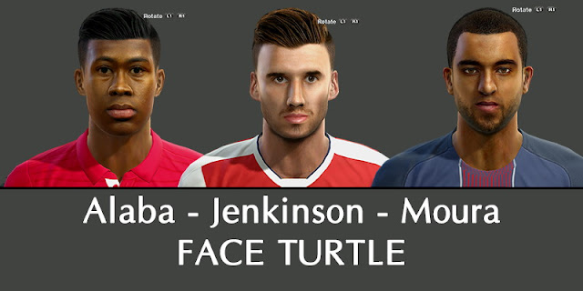 PES 2013 Alaba, Jenkinson, Lucas Moura Face by Turtle Facemaker