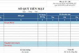 File Excel Sổ Kế Toán Tiền Mặt Tự Động 2018