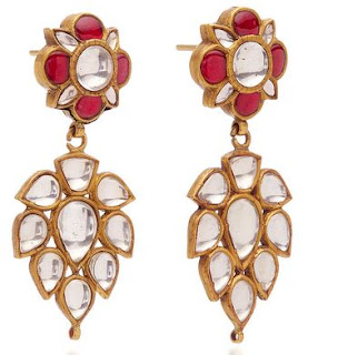 Shopping, Style and Us: India's Best Shopping and Self-help Blog-  AMRAPALI STERLING SILVER EARRINGS STUDDED WITH GOLD, CRYSTAL AND RUBIES