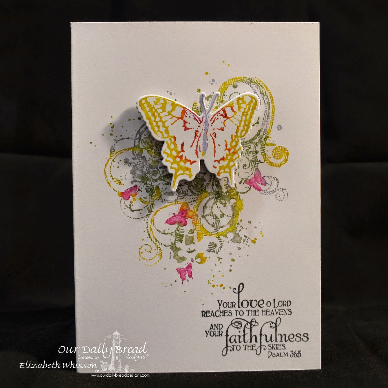 Elizabeth Whisson, Our Daily Bread Designs, Grunge Butterfly Single, 2 Step Butterfly, Faith, ODBD Grunge Butterfly Die