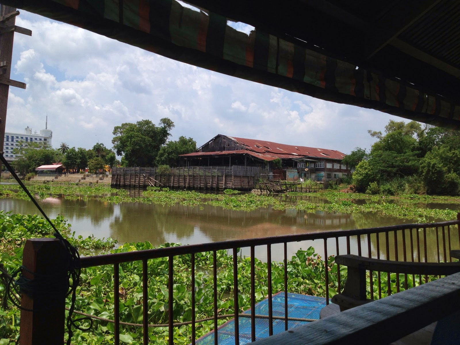Ayutthaya - View of the river from Pae Krung Kao restaurant