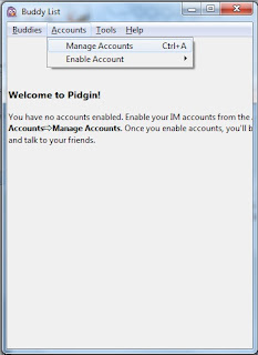 manage account pidgin