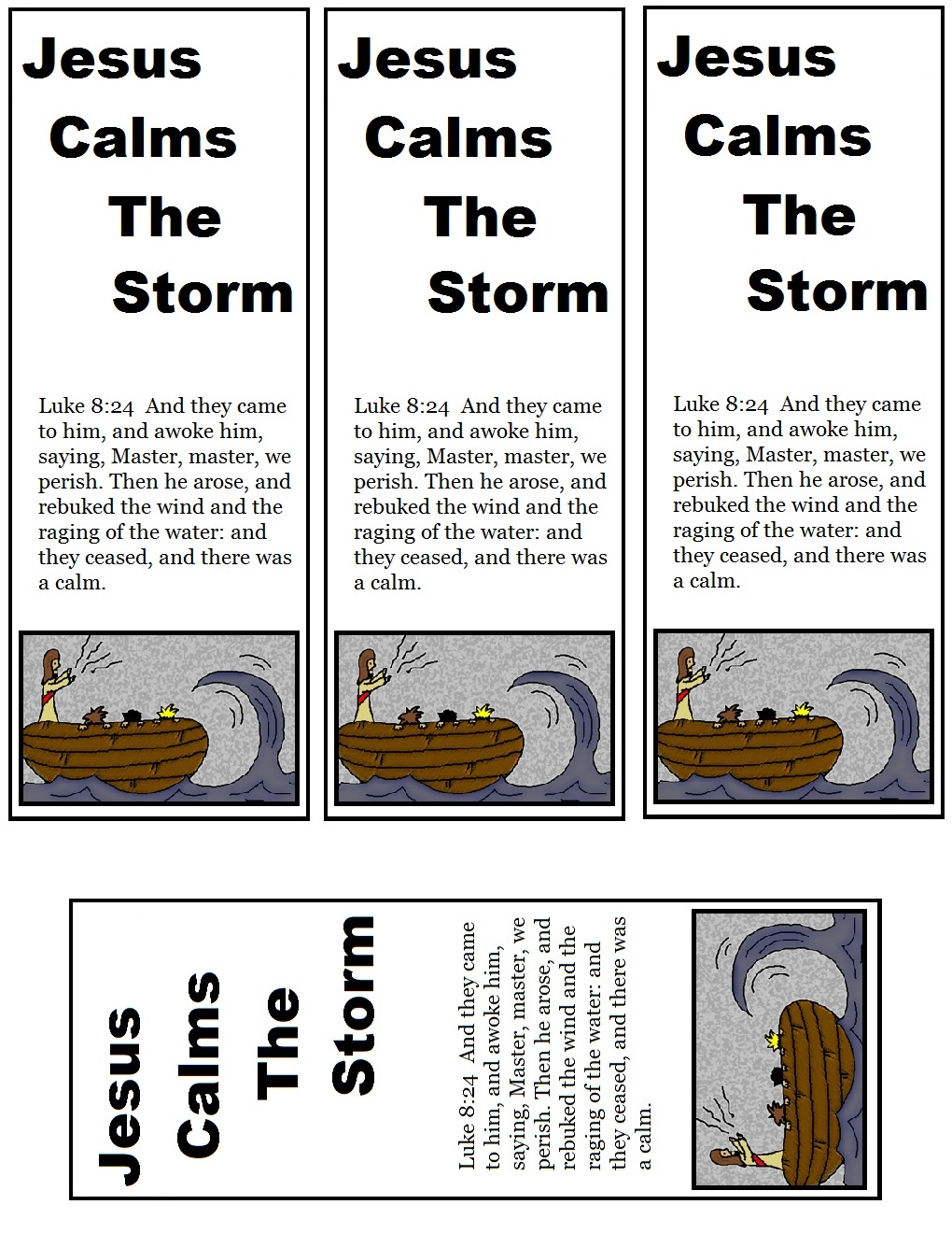 Jesus Calms The Storm Sunday School Lesson