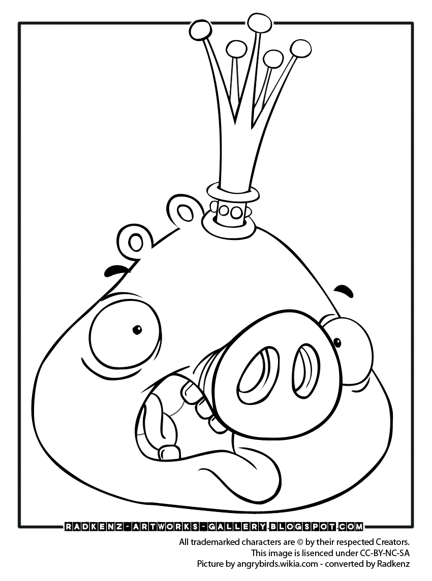 Free pig angry birds coloring pages