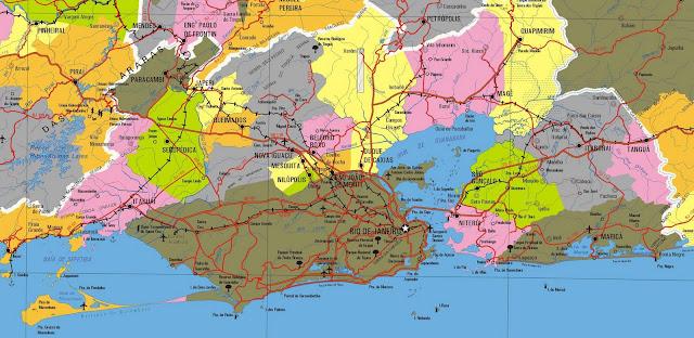 Mapa Litoral Sul do estado do Rio de Janeiro