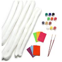 Le kit Pouf twist pour sculpter, peindre et décorer