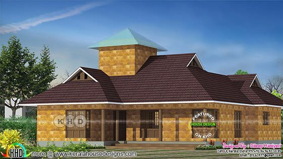 1396 square feet traditional single floor house