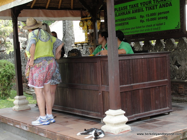 ticket booth at Taman Ayun Temple  in Mengwi village, Bali