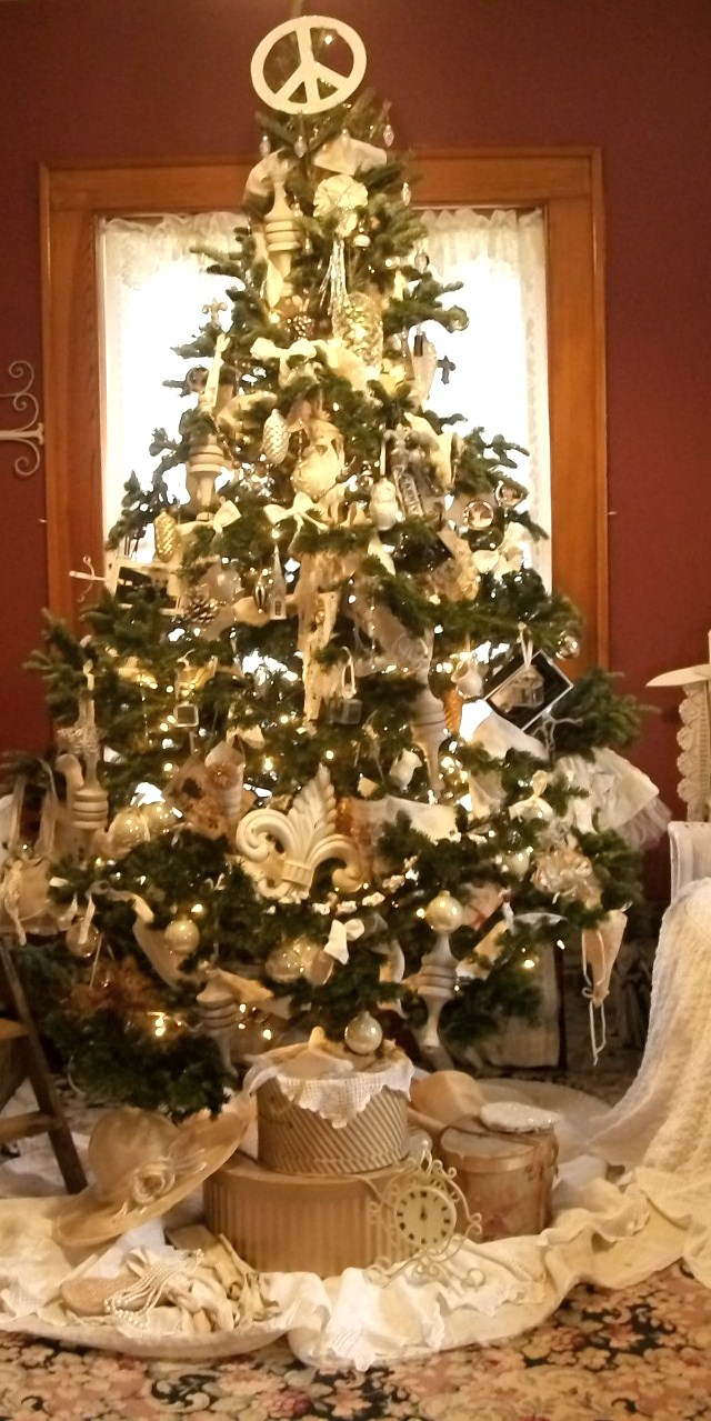 The Victorian Tailor Shabby White Christmas Tree