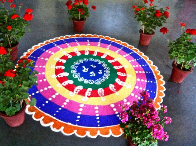 Rangoli Designs For Happy Holi