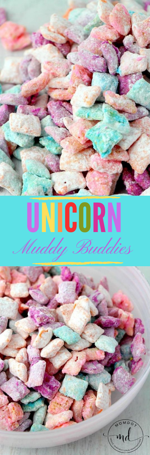 Unicorn Poop Muddy Buddies #dessert #cake