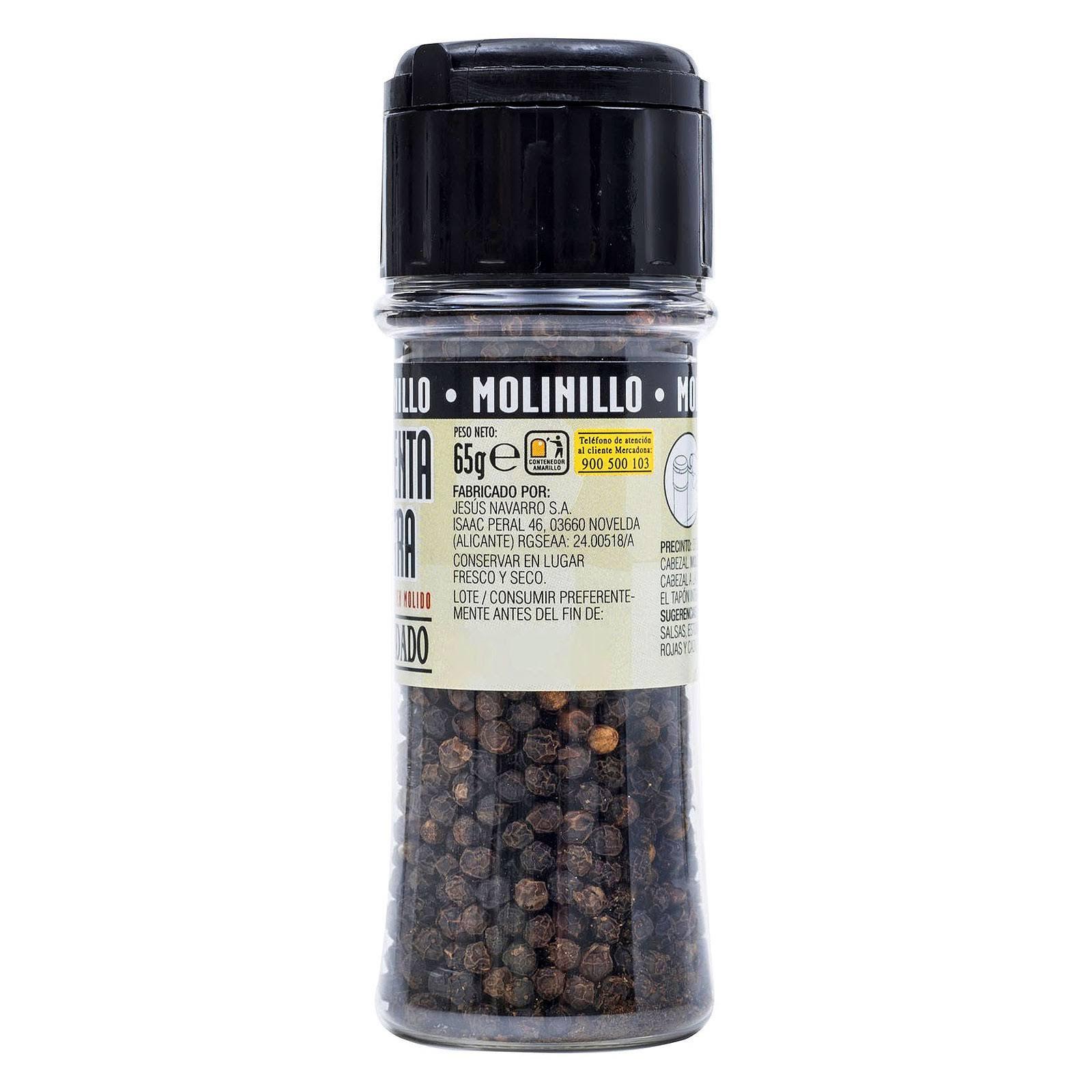 Molinillo de pimienta negra Hacendado