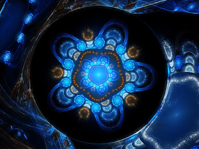 fractal, quantum, blue, universe, space, metaphysical, miracles, art, imagination