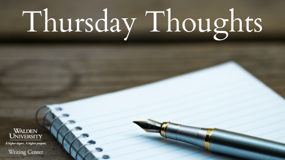 Thursday Thoughts notebook and pen